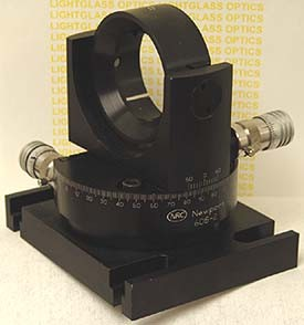 Newport 605-2 Precision Gimbal Optic Mount w/DS4-F Differential Micrometers